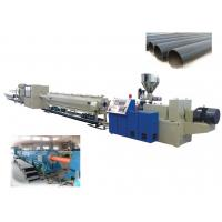 China HDPE Plastic Pipe Extrusion Line For Water / Gas Pipe , Plastic Pipe Extrusion Machinery on sale