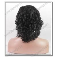 China fashion 14 inch 2# colours spring curly short crystal tip 100% mongolia human hair full lace wigs wholesale