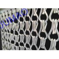 China Silver Color Aluminum Metal Chain Link Curtains Durable For Ceiling / Wall wholesale