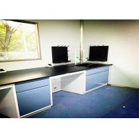 China C Frame Steel Lab Bench High Durability Solid Phenolic Worktop Integrated Design wholesale