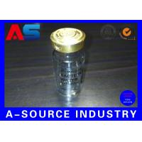 China Clear Adhesive 10ml Vial Labels Water Bottle Labels Transparent Ampoule Label Printing wholesale