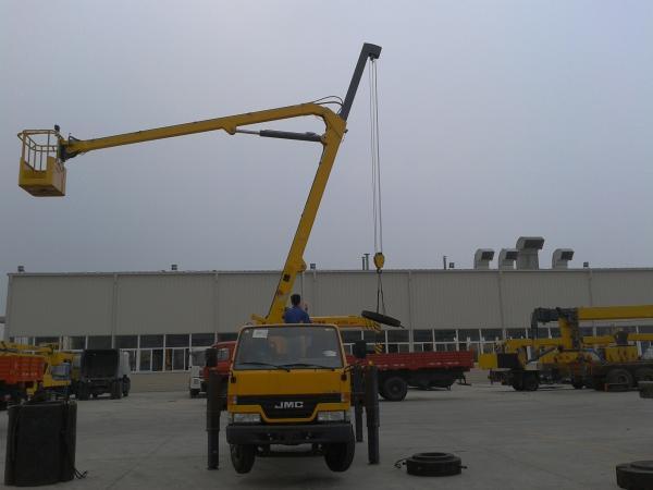 Quality Max Operating Radius 10.6m Boom Lift Truck XZJ5069JGK for sale