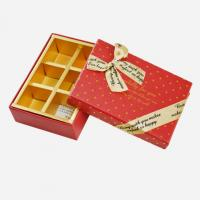 China Rectangle Paper Chocolate Packaging Box UV Printing With Ribbon Packaging on sale