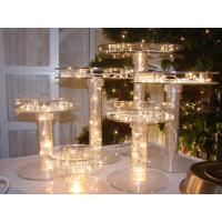 China Unique Tiered Lighted Acrylic Cupcake Stand For Party , Custom Size wholesale