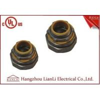 China Liquid Tight Flexible Conduit Fittings Straight Connector With PVC Throat on sale