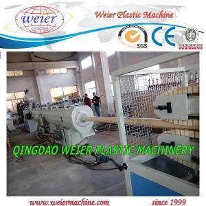 China 50 - 160mm PVC Pipe Manufacturing Machine Squar / Round Pipe wholesale