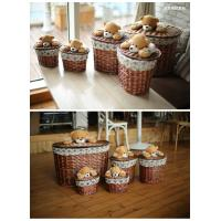 China Laundry basket willow basket storage basket wholesale