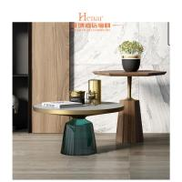 China Leisure Luxury Living Room Furniture , High End Round Coffee Table wholesale