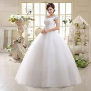 China New Arrival Factory Supply Wedding Dress, Lace Straps Bride Slim Studio Wedding Dress wholesale