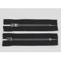 China Highly Polished  Jeans Metal Zipper Black Nickel Teeth For Fashion Lady Jeans And Dress wholesale