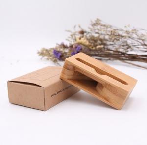 China Bamboo Wood Speaker Amplifier Holder , Mini Cell Phone Portable Speaker wholesale
