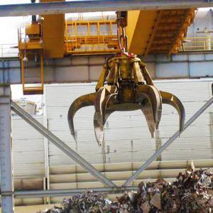 China Double girder overhead crane garbage grab factory bridge travelling crane wholesale