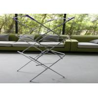 China Adjustable Portable Clothes Drying Rack , Household Indoor Cloth Drying Stand wholesale