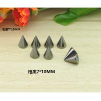 China 10*7mm Gun Black Bullet Rivet Spikes Stud Punk on sale