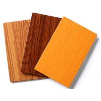 Buy cheap Wood Look Paneling White PE Core ACM Panels For Decoration from wholesalers