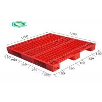 China Racking Design Single Faced Reinforced Rectangle Grid Euro Plastic Export Pallets wholesale