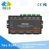 China HF5142 Serial to Ethernet 4 Ports RS232/RS485/RS422 to Ethernet Converter on sale