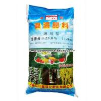 China Moisture Proof Fertilizer Packaging Bags Sacks with Customized Color Printing on sale