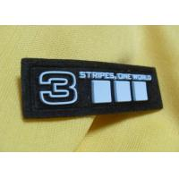 Buy cheap Custom Geographical 3D Metal Soft Silicone Rubber PVC Patches For Jacket from wholesalers