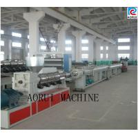 China PE / PP / PERT Plastic Pipe Extrusion Line , Single Screw Water Pipe Extrusion Machinery on sale