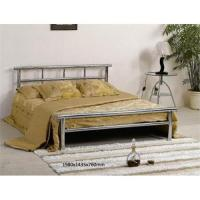 China Single metal bed, white metal bed frame on sale