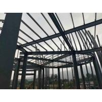 China Q235 Light Paint Garage Steel Frame / Metal Building Frame With 50 Years Long Life wholesale