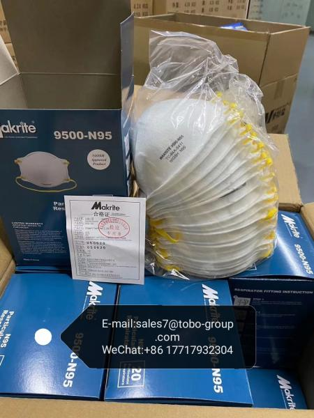 Quality In stock Protective Health Makrite 9500-N95 Mask Bow Cup Type for sale