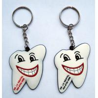 China Promotional Tooth Shape PVC Rubber Key Tag wholesale
