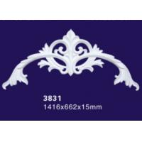 China Upscale Visual Polyurethane Architectural Onlays Furniture Appliques Hollow Design on sale