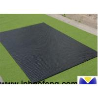 China Black Cattle Mats Rubber Horse Stall Mats 12-25mm Thickness Anti Rust wholesale