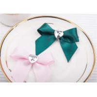 China Decoration Tie Satin Ribbon Bow Washable Home Textile With Dyeing wholesale