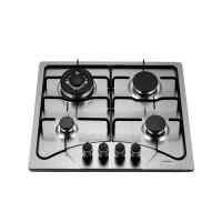 China Popular Stainless Steel Four Burner Gas Hob Built In 110V Auto Ignition For Cooking wholesale