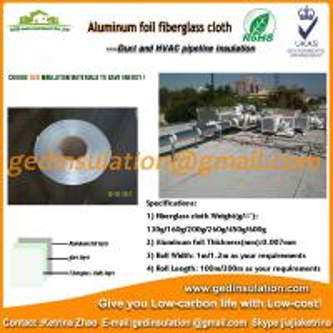 China High quality fiberglass cloth aluminium foil as waterproof pipe insulation wholesale