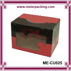 Customized Printed Corrugated Paper Box, Shoe Paper Box with PVC Window ME-CU025