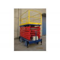 China Manual Mobile Aerial Work Platform Steel Material Hydraulic Platform Lift wholesale