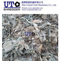 double shaft shredder - scrap leather shredder/ leather cutter/  leather shear/ waste leather crusher with PLC automatic