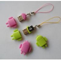 China Cute Android Robot Shape Portable USB 2.0 Micro SD Card Reader on sale