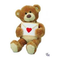 China Stuffed Custom Plush Toy Animals Bears Greeting with a Love Letter for Gifts wholesale