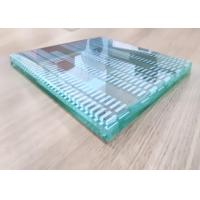 China Decorative Curved Tempered Glass , Pvb Film Laminated Glass 12 Millimeter Thick wholesale