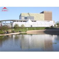 Buy cheap Simple Waterproof High Peak Party Tent With Glass Wall Customized Span Width from wholesalers