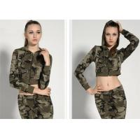 China Fashionable Womens Military Dress Threaded Cuffs And Hem With Non - Detachable Hat wholesale