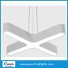 China Super Bright Aluminum Interior Pendant Led Office Light With Led Tube Inside wholesale