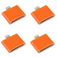 China Fashionable 30 Pin to 8 Pin Data Sync Adapter for iPhone 5 5s 5c iphone4 cable cord Orange wholesale