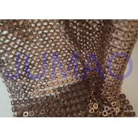 China Brown Hollow 4 Mm Metal Sequin Fabric Cloth For Interior Or Exterior Drape wholesale
