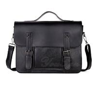 China Classic Black PU Leather Business Laptop Bag For Men OEM ODM Support wholesale