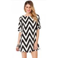 China Short Sleeve Casual Womens Dresses , Spring Ladies Shift Dresses wholesale