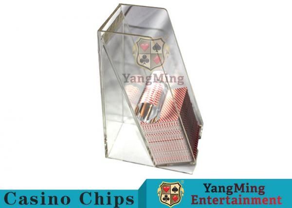 Quality Casino Dedicated Poker Discard Holder , Playing Card Tray Holder For 2 Decks for sale