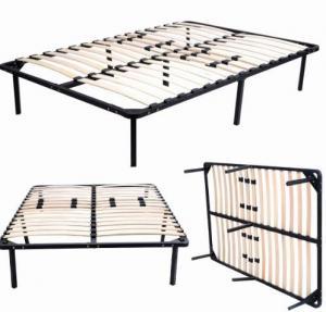 China Hotel Square Black Metal Slatted Bed Base , Detachable Metal Sprung Bed Base on sale