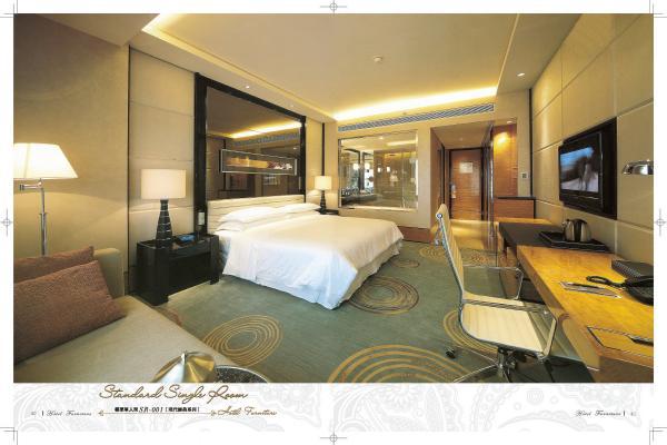 Modern Hotel Bedroom Furniture Standard Single Room Furniture SR 001