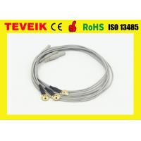 China TPU Material EEG Cable / Electrode Cable Gold Plated Copper 1 Meter wholesale